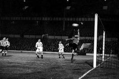 29 Sept 1953. First floodlit game at WHL v racing club  paris