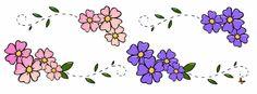 Flores de Primavera, flores, línea de flores,