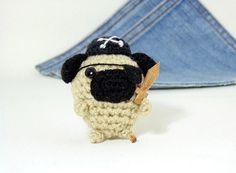 Amigurumi Pirate Pug by Owlystore