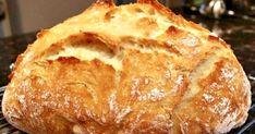 An easy, no-knead, Dutch oven crusty bread recipe. So easy you& never buy bread again! Dutch Oven Bread, Dutch Oven Cooking, Dutch Oven Recipes, Artisan Bread Recipes, Easy Bread Recipes, Baking Recipes, Amish Recipes, Quiches, Ciabatta Bread Recipe