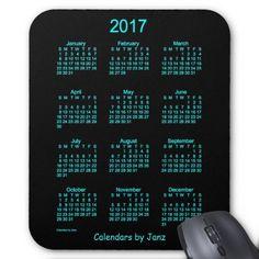 2017 Neon Blue Calendar by Janz MPad