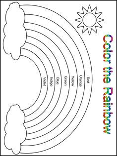 Customize your free printable color the rainbow kindergarten worksheet learning in preschool and educational worksheets for . Printable Preschool Worksheets, Free Kindergarten Worksheets, Kindergarten Learning, Preschool Learning Activities, Free Preschool, Art Worksheets, Rainbow Crafts Preschool, Kindergarten Coloring Pages, Circle Time Activities