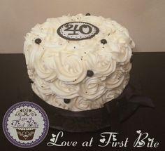40th Birthday Rosette Cake