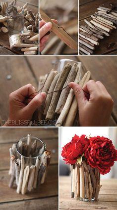 DIY Driftwood Vase