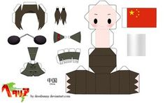 Hetalia China Papercraft Paperdolls Free Printable Dolls For Fans Of Wonderweirded