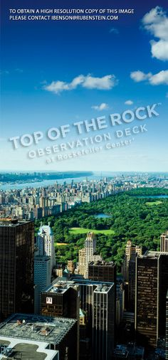 Top of The Rock – Central Park North View