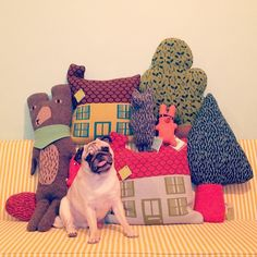 Donna Wilson's goodies are back in stock! Her amazing creations are hand knitted in 100% lambswool in Scotland. Details are hand embroidered which makes each piece unique. Puggypipi not included!