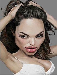 Angelina Jolie Isabelle Douzam y- Artiste peintre - Saint-cast-le-guildo ww.douzamy.com