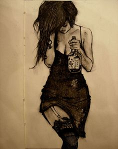 I want to paint this but maybe without the alcohol and with something else that I relate to