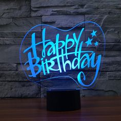 Hot NEW changing Bulbing Light Happy birthday illusion LED lamp creative action figure toy Christmas gift Happy Birthday Wishes Images, Happy Birthday Video, Birthday Wishes Cards, Happy Birthday Greetings, Birthday Images, Birthday Gifts, Friend Birthday Quotes, Happy Birthday Quotes, Happy Birthday Wallpaper