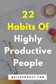 Want to know how to be productive? Follow these 22 productivity habits, tips, and hacks of productive people. #howtobeproductive #productivity #productive Productive Things To Do, Things To Do When Bored, Things To Do At Home, Productive Day, Getting Things Done, Time Management Activities, Time Management Quotes, Time Management Skills, Productivity Hacks