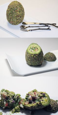 Seriously awesome presentation on this Crab and #Avocado Salad