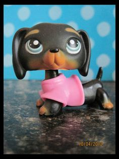 Littlest Pet Shop ♥ LPS ♥ Black Dachshund Dog Blue Eyes 325 | eBay