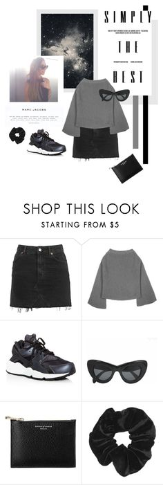 """""""Untitled #2074"""" by katerina-rampota ❤ liked on Polyvore featuring Topshop, Marc Jacobs, NIKE, CÉLINE and Aspinal of London"""