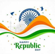 God images: Happy Republic day image Ux Design, Free Design, Design Agency, Media Design, Happy Republic Day Wallpaper, Republic Day Indian, Indian Flag, Whatsapp Dp Images, Happy Independence Day