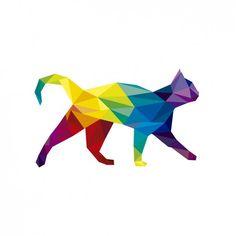 Resultado de imagen para gato figura geometrica