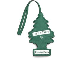 Anya Hindmarch Little Tree Bag Charm ($350) ❤ liked on Polyvore featuring jewelry, pendants, emerald, charm jewelry, leather charm, leather jewelry, charm pendant and anya hindmarch