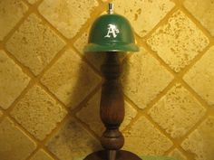 MLB Oakland A's Kegerator Beer Tap Handle Helmet Bar Sports Brew Series New Wood