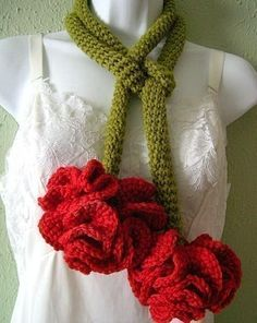 Knit or Crochet the January Flower of the Month: Carnation