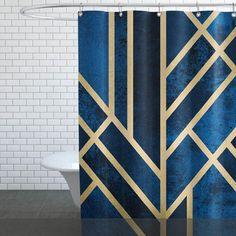 Wasserabweisender Duschvorhang aus Polyester mit einseitigem Motivdruck. Fadenvernäht. Mit aufgedrucktem JUNIQE-Logo unten links. Mit vernickelten, rostfreien…