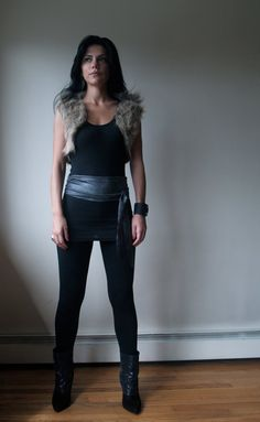 Afrikaburn Outfits · faux fur vest. Need to do this in like red cow print  for burning man 5b616cb45c8f