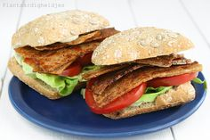 T-BLT Sandwich (Tofu-Bacon, Lettuce and Tomato Sandwich)