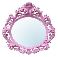 Baroque Pink Oval Bevelled Wall Mirror