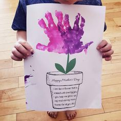 Finger Paint Art, Finger Painting, Dad Day, Mom And Dad, Help Me Grow, Happy Mothers Day, Growing Up, Flowers, Dads