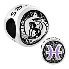 Pisces Horoscope Zodiac Fit All Brands Silver Plated Beads Charms Bracelets Pugster.com