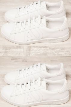 a9c9dcf586e4d Impress with a pair of Armani fresh white trainers Armani Jeans
