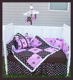 New PINK JOHN DEERE baby girl Crib Bedding by alexiskleegrandma, $275.00