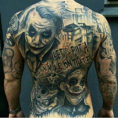 Cool Tattoos Drawings Of Hearts . Cool Tattoos Drawings Of Hearts . Badass Tattoos, Girl Tattoos, Tatoos, Clown Tattoo, Batman Tattoo, Joker Smile Tattoo, Joker Tattoos, Back Tattoos For Guys, Full Back Tattoos