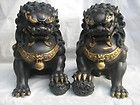 Folk Collection, Bronze Gilt Guardian Lion Fu Dogs