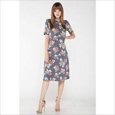 91b224b45ded7 Grey Floral Dress. Grey Floral Dress