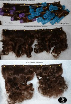 How the number of rollers used changes the volume and density of curls - from Custom Wig Company