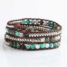 Tibet's natural turquoise bracelet