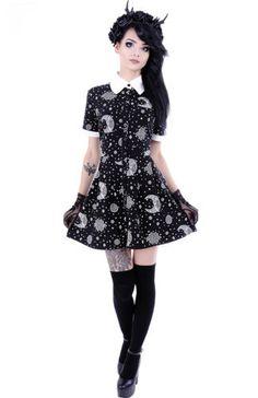 Restyle-Mond-Kleid-Gothic-Dress-Nugoth-Hippie-Moon-Witchy-Vintage-Gothabilly-WGT