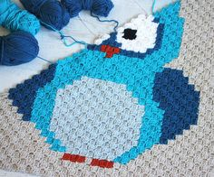 Owl Blanket Crochet Pattern.
