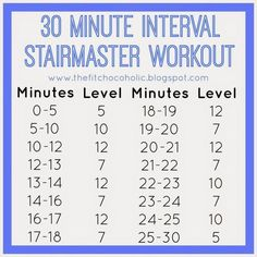 The Fit Chocoholic:   The Fit Chocoholic: 30 Minute Interval StairMaster Workout