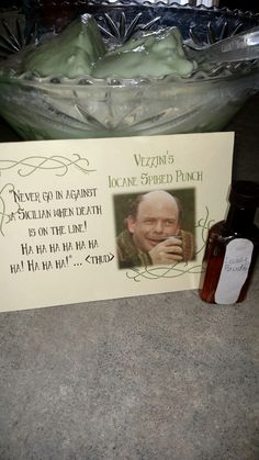 Vizzin I'm Iocane Powder Spiked Punch Bride Party Ideas, Wedding Ideas, Princess Bride Wedding, Backyard Movie Nights, Geek Party, Bride Shower, Movie Party, Party Time, The Embrace
