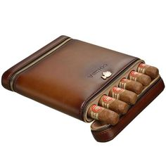 "Classy design, high-quality PU Leather and cedarwood. Take Your Favorite Cigars Anywhere!!   Holds 6  cigars not bigger than 60 ring gauge. (Diameter: 0.94"", Lenght 6.5"")   #cigar #cigarcase #leather #cigarlife #smoker #cigaraficionado #cigarsociety #cigarsnob #cigarworld #cohiba #luxury #cuban #habanos #habano  #cigars #style #styleoftheday #styleinspiration"