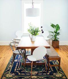 Stühle perserteppich Esstisch holz modern weiß