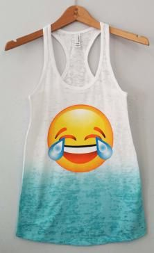 Ombre Tank - Emoji LMAO Now you can use Emoji in real life! #swag
