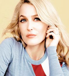 Gillian Anderson photoshoot for Glamour UK