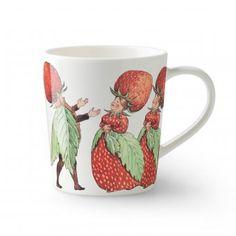 Elsa Beskow Tasse mit Henkel 40cl The Strawberry Family #design3000