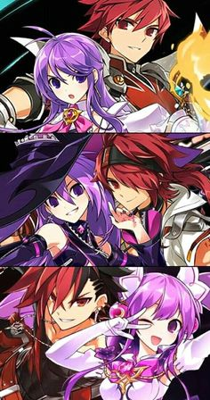 Elsword x Aisha Game Character, Character Design, Elsword Anime, Comic Style Art, Anime Love Couple, Animes Wallpapers, Boy Art, Fantastic Art, Anime Couples