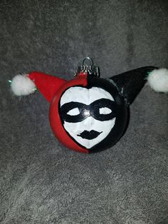 Custom Harley Quinn Symbol Christmas Ornament by GeekVinyl on Etsy ...