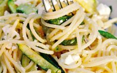 Courgette and lemon spaghetti