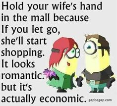 Funny Minion Quotes About Wife vs. Shopping