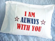 Patriotic pillowcases for soldiers